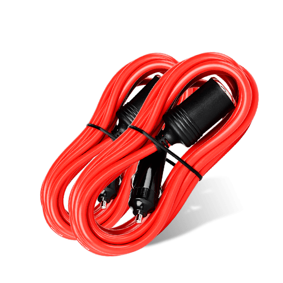 Nilight 2PCS 14 ft Car Cigarette Lighter Socket Extension Cord Cable 12V/24V (Red)