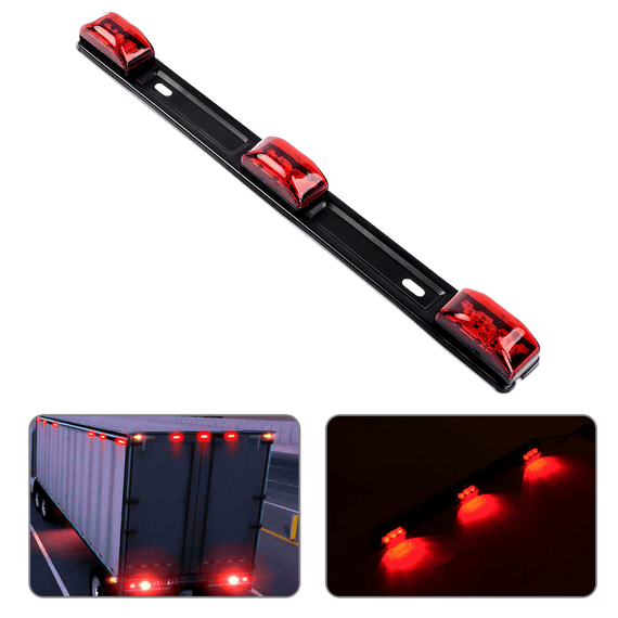 Nilight 1 Pc Red 9 LED ID Bar Marker Tail Light for Truck Trailer Boat Identification Light, 2 Years Warranty