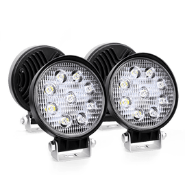 Led Light Bar 4PCS 4.5 Inch Round 27w Spot Lights for Jeep,SUV Truck , Hunters, 2 years Warranty