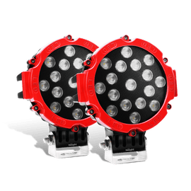 Nilight 2PCS 7 Inch Round 51W Flood LED Lights for Offroad Jeep JK, XJ, Subaru on Front Bumper, Windshield, Roof Rack, 2 years Warranty