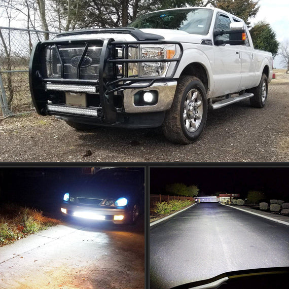 Nilight 32Inch 180W Flood Spot Combo Beam LED Light Bar and 1PC 16AWG Wiring Harness Kit 2 Years Warranty 2 Leads