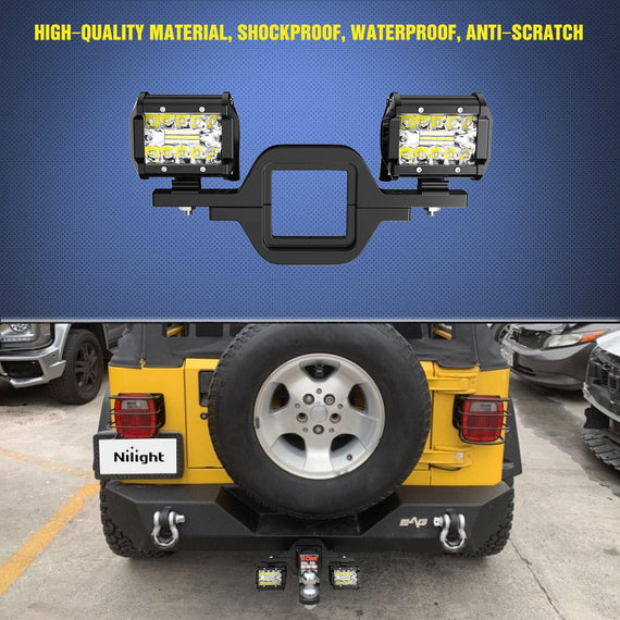 "2.5/"" Tow Hitch Light Mounting Bracket For Backup Reverse 18W LED Light Truck"