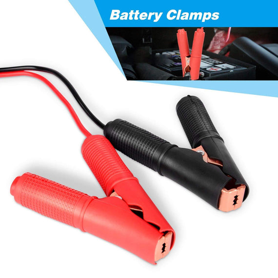 Air Pump,Car Fridge and More RV Battery DC//1M SinLoon Alligator Clip to DC Battery Jumper Cable,Booster Jumper Cable with Battery Clamp 12V// 24V Battery Clip for for Boat