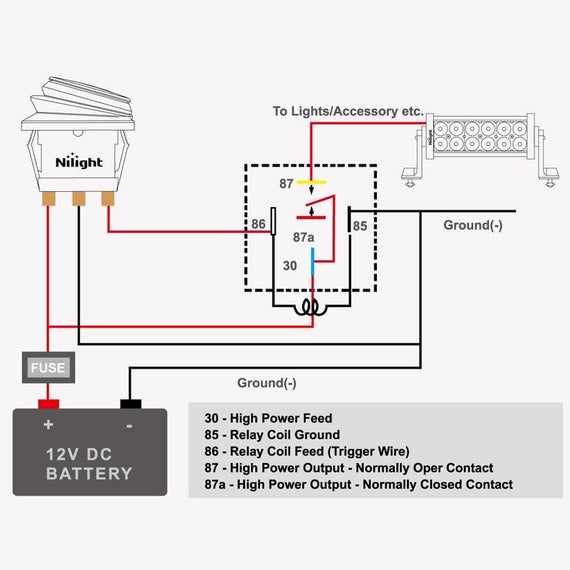 5 Wire Relay Harness 5 pin relay headlight wiring diagram 5 ...  Wire Relay Wiring Diagram Headlight on