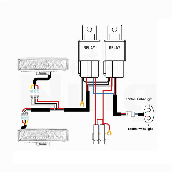 [DIAGRAM_38EU]  Nilight Dual Color Light Bar Wiring Harness Kit 16AWG-2 Leads – Nilight Led  Light | Led Bar Wiring Diagram |  | Nilight Led Light