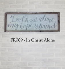 FR009 - In Christ Alone