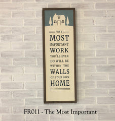 FR011 - The Most Important