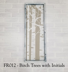 FR012 - Birch Trees with Initials