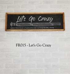 FR015 - Let's Go Crazy