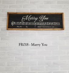FR018 - Marry You