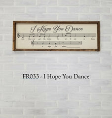 FR033 - I Hope You Dance
