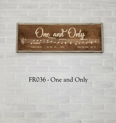 FR036 - One And Only