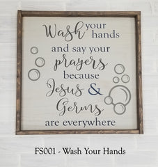 FS001 - Wash Your Hands
