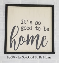 FS004 - It's So Good To Be Home
