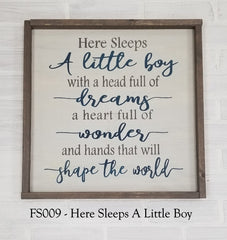 FS009 - Here Sleeps A Little Boy