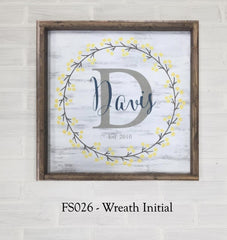 FS026 - Wreath Initial