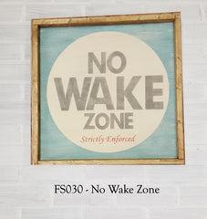FS030 - No Wake Zone