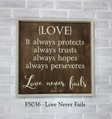FS036 - Love Never Fails