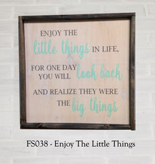 FS038 - Enjoy The Little Things