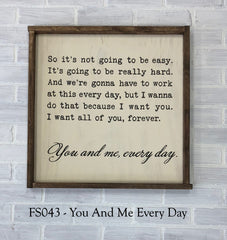 FS043 - You And Me Every Day