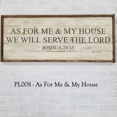 PL008 - As For Me & My House