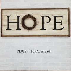 PL012 - HOPE wreath