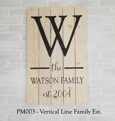 PM003 - Vertical Line Family Est.
