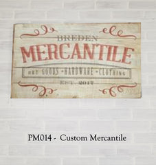 PM014 - Custom Mercantile