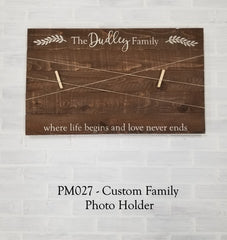 PM027 - Custom Family Photo Holder