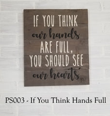 PS003 - If You Think Hands Full
