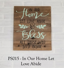PS015 - In Our Home Let Love Abide