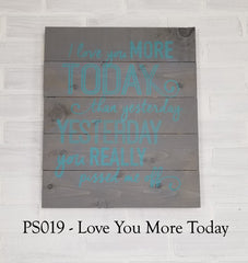 PS019 - Love You More Today