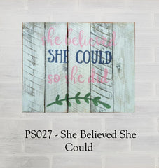 PS027 - She Believed She Could