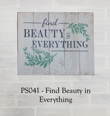 PS041 - Find Beauty in Everything