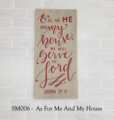 SM006 - As For Me And My House