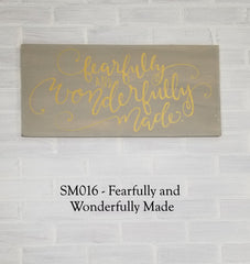SM016 - Fearfully And Wonderfully Made