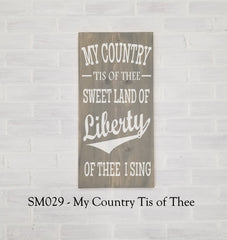 SM029 - My Country Tis of Thee