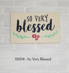 SS004 - So Very Blessed