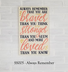 SS005 - Always Remember