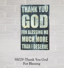 SS029 - Thank You God For Giving