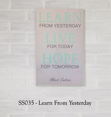 SS035 - Learn From Yesterday