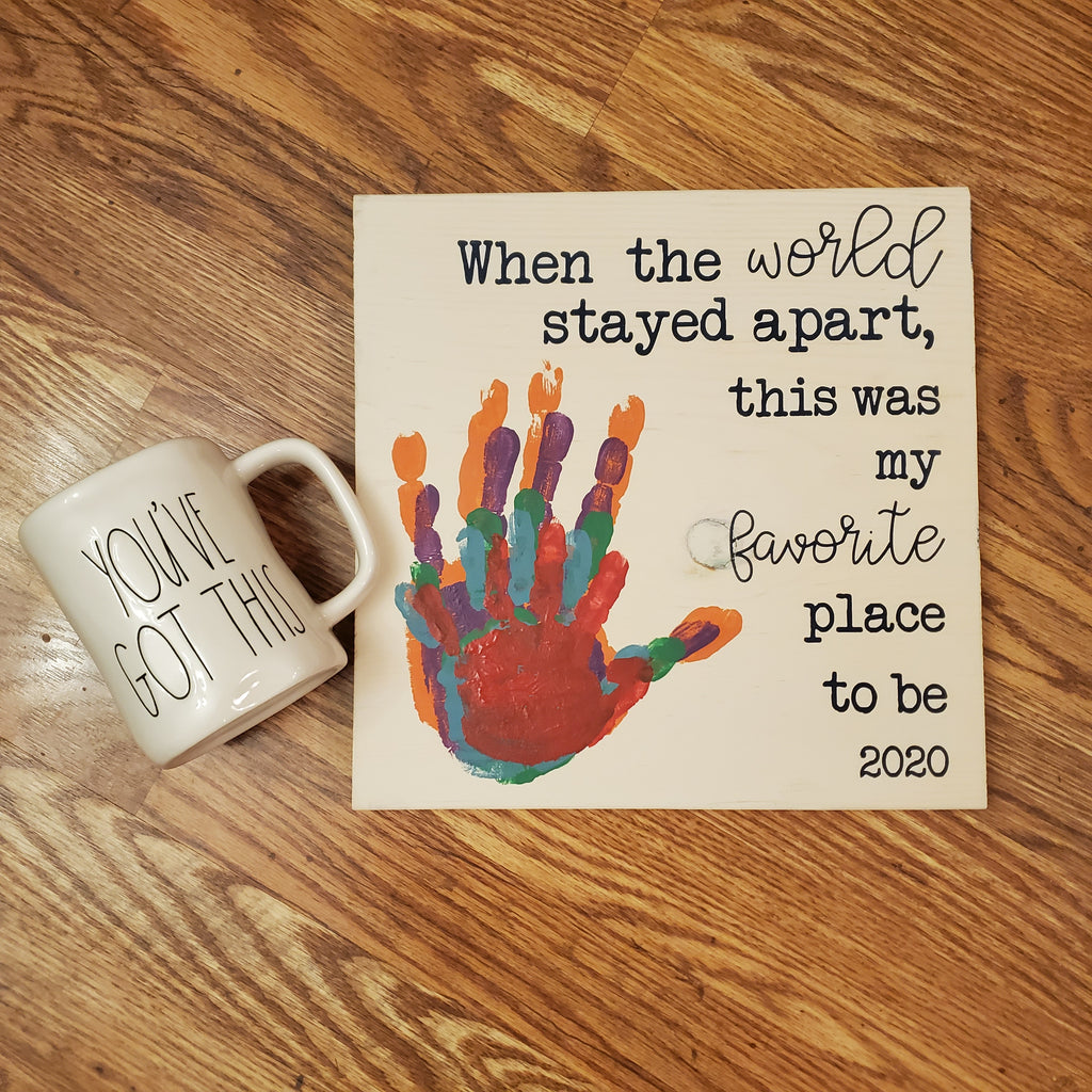And The World Stayed Apart Handprint SHIPPED