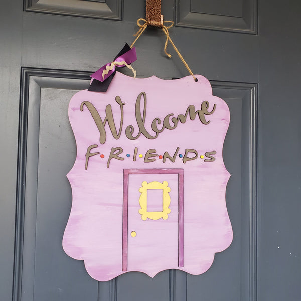 !!! Friend's 3-D Door Hanger