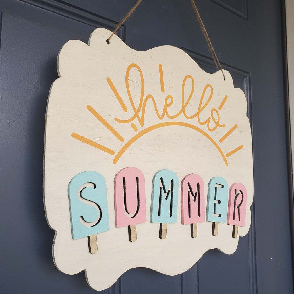 !!! Hello Summer 3-D Door Hanger