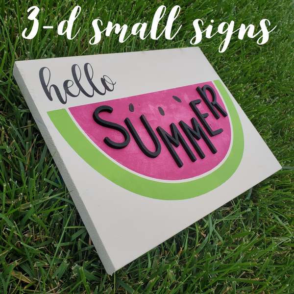 !!! 3-D Small Signs