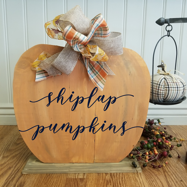 !!! Shiplap Pumpkin for Business Owners O'Fallon