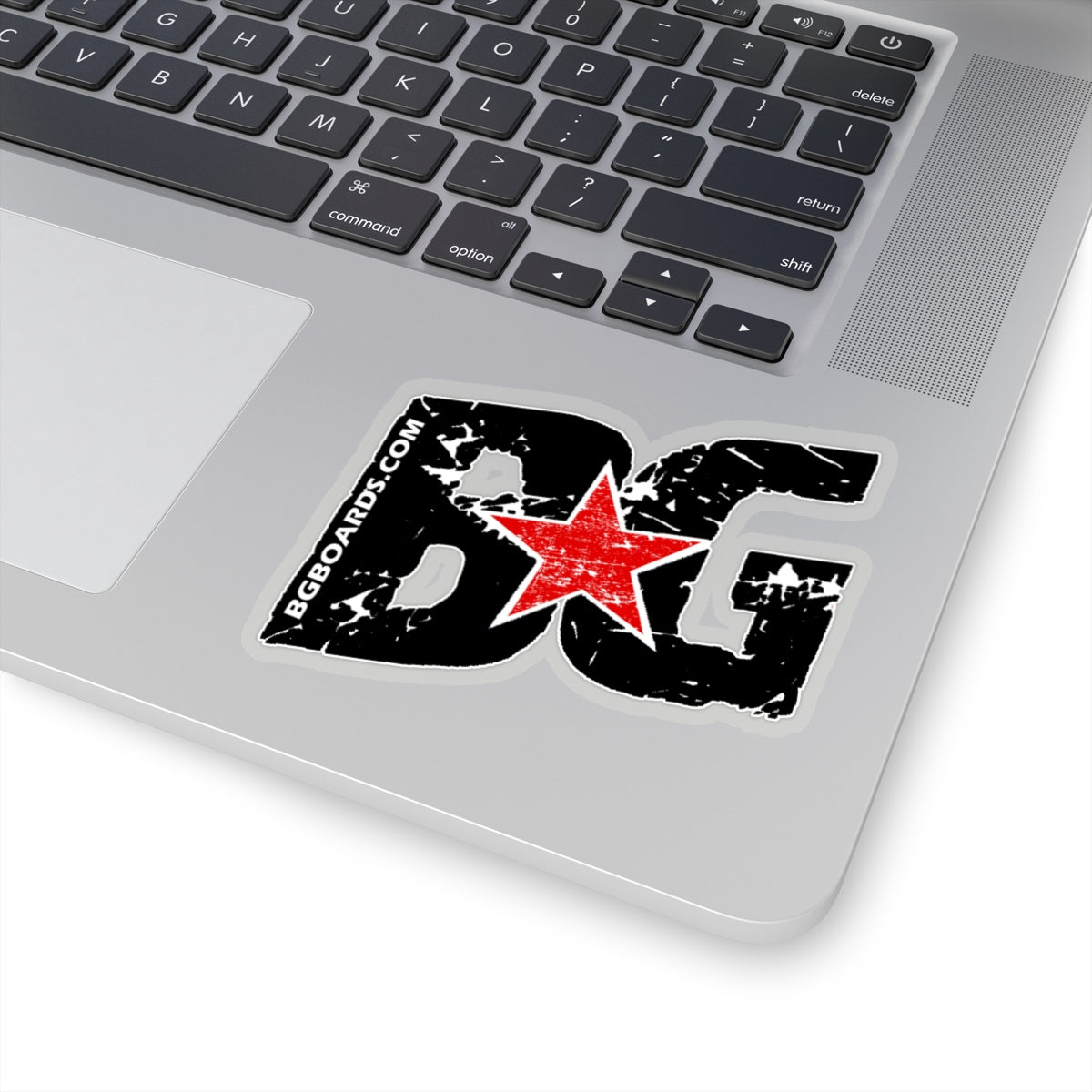 Slant BG Die Cut Sticker