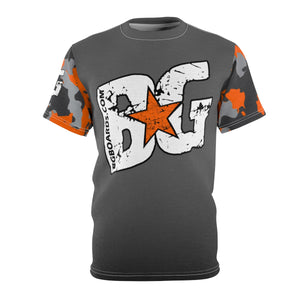 BG Orange Camo Unisex AOP Cut & Sew Tee