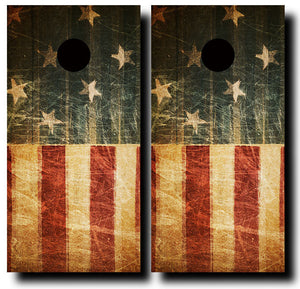 ABSTRACT AMERICAN FLAG 24x48 cornhole board wraps - SET OF 2 - BG Boards and Graphics LLC