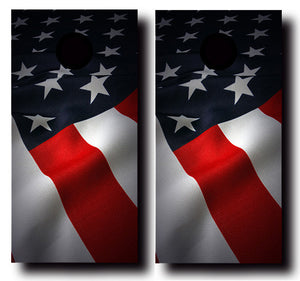 3D AMERICAN FLAG 24x48 cornhole board wraps - SET OF 2 - BG Boards and Graphics LLC